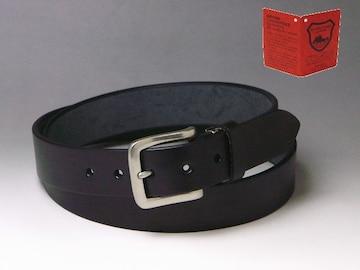 栃木レザー ベルト ヌメ革 ロング 120×35 フリー ブラ