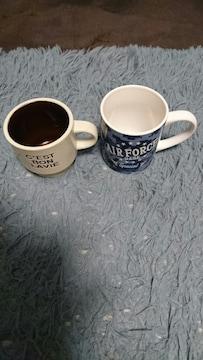 アメリカン柄入マグカップ2点