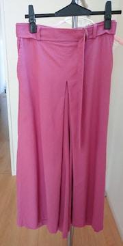 スカート風 ワイドパンツ   ピンク