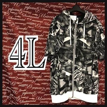 4L・メッシュパーカー×Tシャツセット新品/MCAa903-107