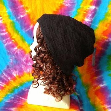 カジュアルstyle!ブロックチェック織りニット帽子■男女兼用■
