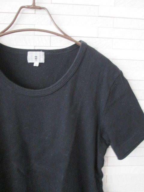 即決/TK/丸首半袖Tシャツ/無地/黒/2 < ブランドの