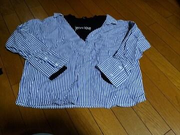 3着以上半額!全品送料無料!JN-カットソーシャツ長袖160ブルー