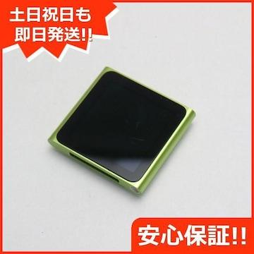 ●安心保証●美品●iPOD nano 第6世代 8GB グリーン●
