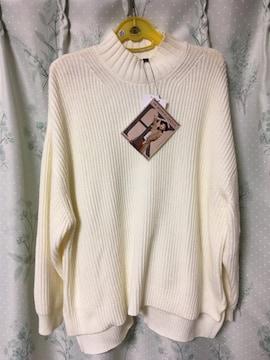 新品未使用しまむら購入HK WORKS LONDON白アイボリーセーター