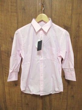 ☆ナノユニバース ブロード 7分袖シャツ/ピンク/メンズ/S☆新品