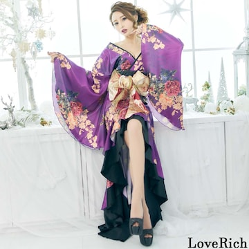 フリル 豪華絢爛 花魁風 着物ドレス イベント 衣装 チャムドレス
