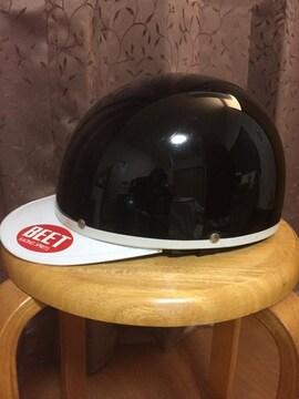 962.バイク用ヘルメット☆半帽☆黒/ブラック