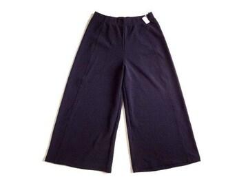 新品 コムサイズム COMME CA ISM 紺 ワイド パンツ 9 M