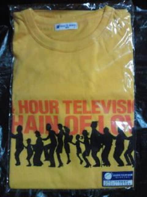 日テレ NTV 24時間テレビ TOKIO 松岡昌宏 デザイン Tシャツ Lサイズ イエロー  < タレントグッズの