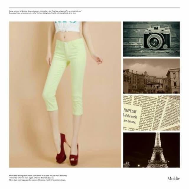 送料無料★M★28★7分・七部★ミント緑  < 女性ファッションの