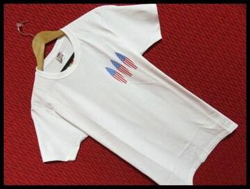 FRUIT OF THE LOOM別注星条旗サーフボード3Tシャツ/WHITE/M