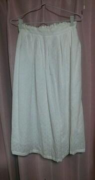 Lサイズ☆真っ白レースのスカート