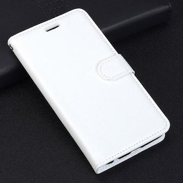 iPhone6 6S 手帳型ケース レザー ピンホール 保護フィルム 白