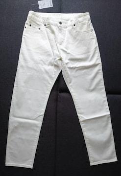 W76★ホワイトストレッチパンツ★股下71cm★