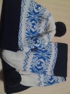 ELLE★ノルディック柄★マフラー&ニット帽セット( v^-゜)♪