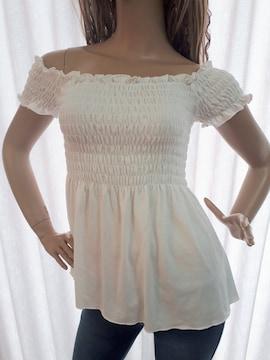 ANAP シャーリング オフショル Tシャツ 白