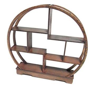 オススメ 未使用 木製 アンティーク 調 飾り棚 ラック 香炉台 瓶