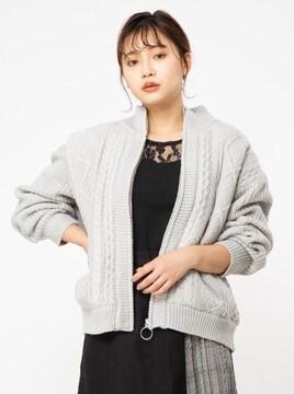 タグ付き新品セシルマクビー/ニットブルゾンアウタートップス女M