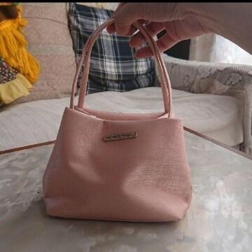 【値下げ不可】サーモンピンク 可愛い?ミニ ハンドバッグ