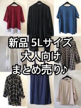 新品☆5L♪まとめ売り♪大人向けトップスなど☆d689