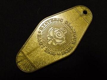 ≪ヒスミニ≫キーホルダートップ ラメ入り ゴールド 正規