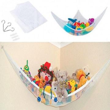 おもちゃ収納用ハンモック ぬいぐるみ 玩具 片付け 吊り下げ