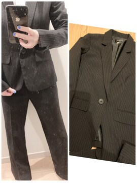 断捨離★ストライプのパンツスーツ