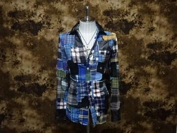 (定価242000)バックボーン・パッチワークフランネルシャツ