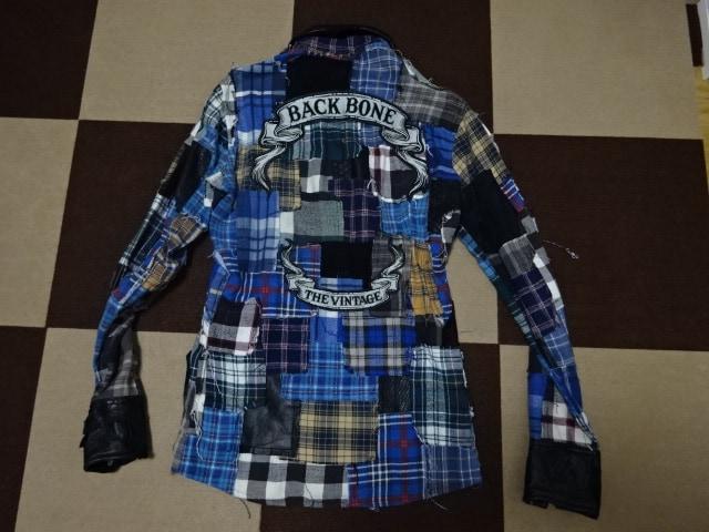 (定価242000)バックボーン・パッチワークフランネルシャツ < ブランドの