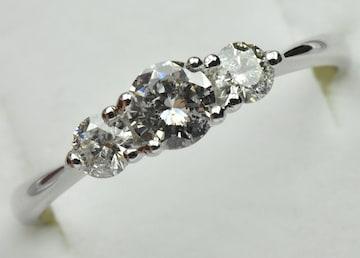 K18WG 合計 0.52ct ダイヤモンドリング 12号 指輪