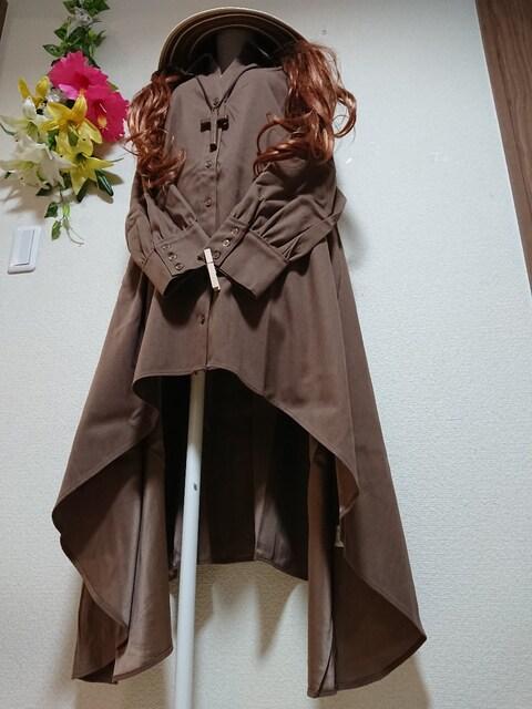 ★新品タグ4L★起毛素材★前後フレア★シャツチュニ¥5649 < 女性ファッションの
