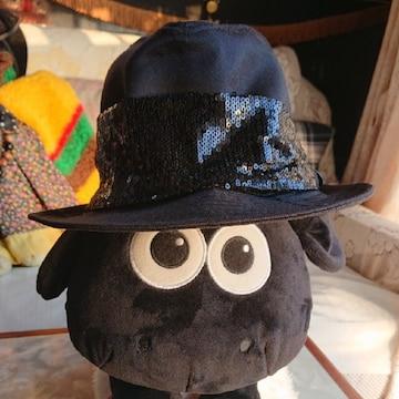 【値下げ不可】ブラック×ブラック スパンコール きれいめハット
