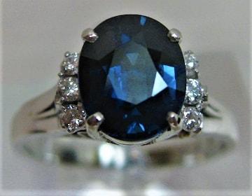 Pt900プラチナ リング指輪サファイヤ1.98ctダイヤ6P 0.12ct