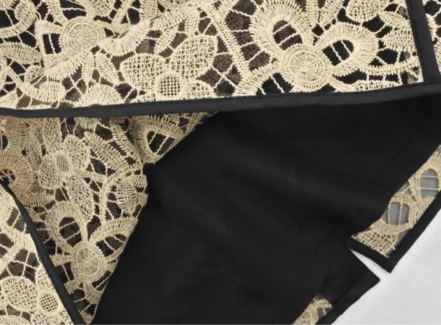 美品☆hoss intropia(ホスイントロピア)刺繍レースドレスワンピース☆ < 女性ファッションの