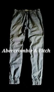 【Abercrombie&Fitch】アバクロ Vintage デニムジョガーパンツ L/B.Wash