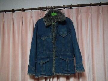 CLOTHINGのデニムハーフコート(M)!。