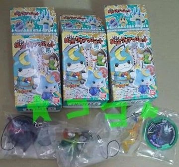 妖怪ウォッチ クリアマスコット4+妖怪メダルU Vol.1+同 stage2