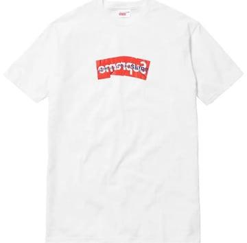 Supreme ギャルソン Box Logo Tee White L Tシャツ