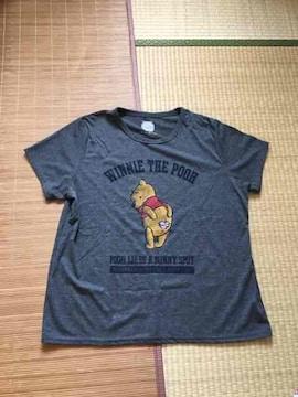 ディズニー・ロゴ&くまのプーさん柄Tシャツ4Lサイズ