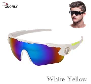 スポーツサングラス サングラス ブルーレンズ  UV400 ホワイト