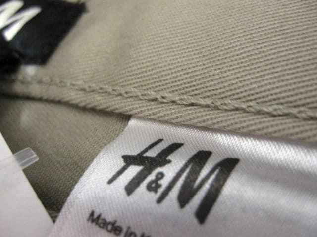 □H&M/エイチアンドエム スリムフィット パンツ/チノパン/メンズ・28☆新品 < ブランドの