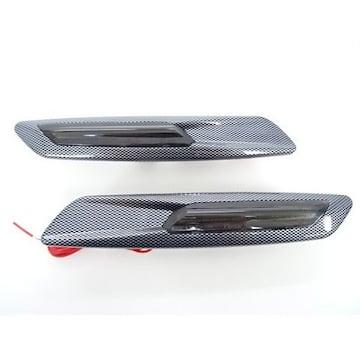 LED カーボン調 サイドマーカー  ポジション機能付き フェンダー ウインカー レクサス