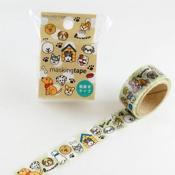 ★犬U^ェ^U★マスキングテープ★型抜きタイプ★未使用