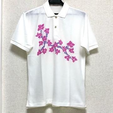 美品 Olympic club オリンピッククラブ 半袖 ポロシャツ L 白 ホワイト