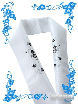 【和の志】日本製◇夏物刺繍半襟◇桔梗・小花柄◇139