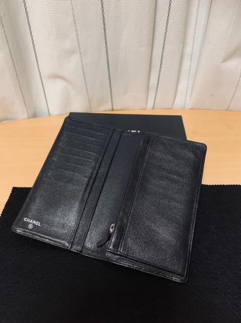 ◆正規品◆ 極美品 ◆箱付き! CHANEL カメリア 長財布 黒 < ブランドの