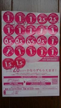 ヤマザキ 春のパンまつり 2021 点数シール 24点分 5/16迄