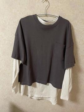 GU トップス 二枚セット ロンT + Tシャツ 今期  L+XL