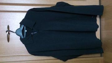 訳あり激安79%オフポールスミス、長袖、ポロシャツ(美品、黒、M)